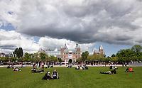 Nederland Amsterdam 2019 . Het Museumplein met het Rijksmuseum. Foto Berlinda van Dam / Hollande Hoogte