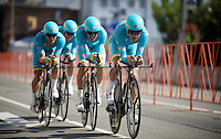 Team Astana (KAZ) en route<br /> <br /> Elite Men&rsquo;s Team Time Trial<br /> UCI Road World Championships Richmond 2015 / USA