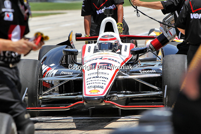 Will Power (12) in action during qualifying for the IZOD Indycar Firestone 550 race at Texas Motor Speedway in Fort Worth,Texas.