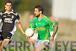 Paul Galvin Finuge in action against John Dowling Ardfert in the Club Championship Intermediate Semi Fanal at Austin Stack Park on Saturday.