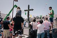 litterally the whole town is packed (including the cemetery...) as the Tour rolls through it<br /> <br /> Stage 6: Brest > Mûr de Bretagne / Guerlédan (181km)<br /> <br /> 105th Tour de France 2018<br /> ©kramon