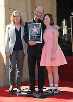 Actor Ed Harris &amp; wife Amy Madigan &amp; daughter Lily on Hollywood Boulevard where he was honored with the 2,546th star on the Hollywood Walk of Fame.<br /> March 13, 2015  Los Angeles, CA<br /> Picture: Paul Smith / Featureflash