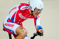 Picture by Alex Whitehead/SWpix.com - 23/03/2018 - Cycling - 2018 UCI Para-Cycling Track World Championships - Rio de Janeiro Municipal Velodrome, Barra da Tijuca, Brazil - Alexsey Obydennov of Russia competes in the Men's C3 1km Time Trial final.