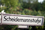 Sign of Scheidemann street, Tiergarten, Berlin, Germany