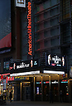 """Theatre Marquee unveiling for """"A Soldiers Story"""" directed by Kenny Leon starrying David Alan Grier and Blair Underwood at the American Airlines Theatre on January 17, 2020 in New York City."""
