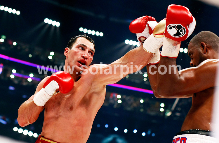 **ALL ROUND PICTURES FROM SOLARPIX.COM**.**SYNDICATION RIGHTS FOR UK AND SPAIN ONLY**.The Boxing WBO and IBF and IBO-World Championship Heavyweight boxer Wladimir Klitschko  from the Ukrain  vs  Tony Thompson from the USA. The match was held this Saturday at the Colour Line Arena in Hamburg where Wladimir Klitschko won the fight. Tony Thompson was K.O.'d in the 11th round...JOB REF:6817-CPR/Nigel Treblin    DATE:12_07_08.**MUST CREDIT SOLARPIX.COM OR DOUBLE FEE WILL BE CHARGED* *UNDER NO CIRCUMSTANCES IS THIS IMAGE TO BE REPRODUCED FOR ANY ONLINE EDITION WITHOUT PRIOR PERMISSION*