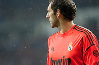 Diego Lopez goalkeeper in the Rain