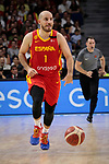 Quino Colom of Spain during the Friendly match between Spain and Dominican Republic at WiZink Center in Madrid, Spain. August 22, 2019. (ALTERPHOTOS/A. Perez Meca)