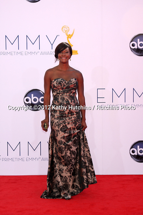 LOS ANGELES - SEP 23:  Sufe Bradshaw arrives at the 2012 Emmy Awards at Nokia Theater on September 23, 2012 in Los Angeles, CA