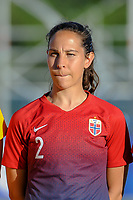 20200307  Lagos , Portugal : Norwegian defender Ingrid Moe Wold (2) pictured during the female football game between the national teams of Germany and Norway on the second matchday of the Algarve Cup 2020 , a prestigious friendly womensoccer tournament in Portugal , on saturday 7 th March 2020 in Lagos , Portugal . PHOTO SPORTPIX.BE | STIJN AUDOOREN