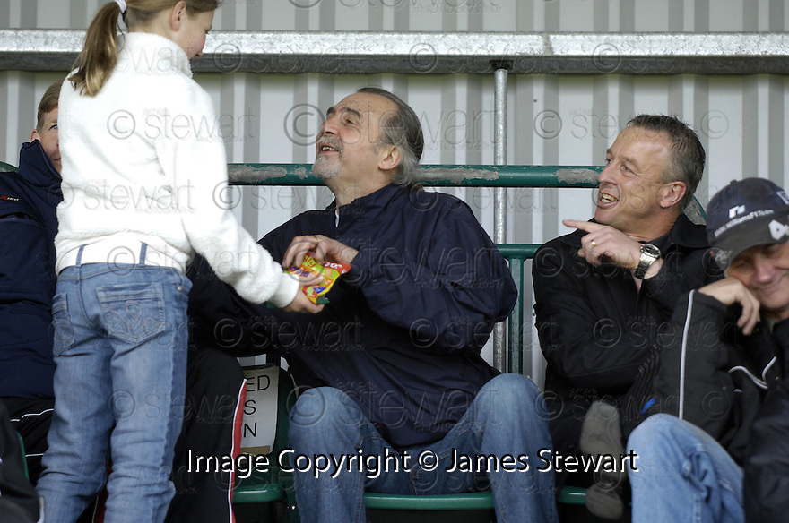 21/04/2007       Copyright Pic: James Stewart.File Name : sct_jspa21_gretna_v_clyde.BROOKS MILESON ACCEPTS A SWEET FROM A YOUNG FAN BEFORE THE START OF THE GAME...James Stewart Photo Agency 19 Carronlea Drive, Falkirk. FK2 8DN      Vat Reg No. 607 6932 25.Office     : +44 (0)1324 570906     .Mobile   : +44 (0)7721 416997.Fax         : +44 (0)1324 570906.E-mail  :  jim@jspa.co.uk.If you require further information then contact Jim Stewart on any of the numbers above.........