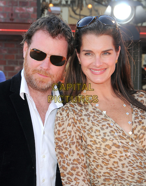 """CHRIS HENCHY, BROOKE SHIELDS .attends The Twentieth Century Fox Premiere of """"Horton Hears a  Who"""" held at The Mann's Village Theatre in Westwood, California, USA, .March 08th 2008..portrait headshot husband wife                           .CAP/DVS.?Debbie VanStory/Capital Pictures"""