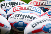 Picture by Alex Whitehead/SWpix.com - 19/03/2017 - Rugby League - Betfred Super League - Salford Red Devils v Castleford Tigers - AJ Bell Stadium, Salford, England - Balls.