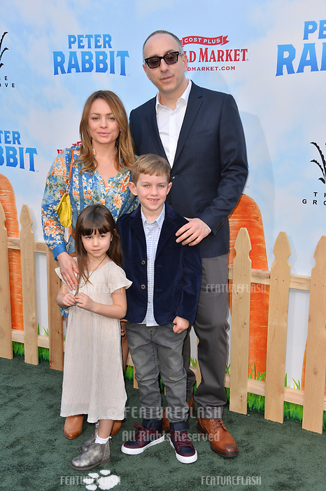 Rob Lieber &amp; Family at the world premiere for &quot;Peter Rabbit&quot; at The Grove, Los Angeles, USA 03 Feb. 2018<br /> Picture: Paul Smith/Featureflash/SilverHub 0208 004 5359 sales@silverhubmedia.com