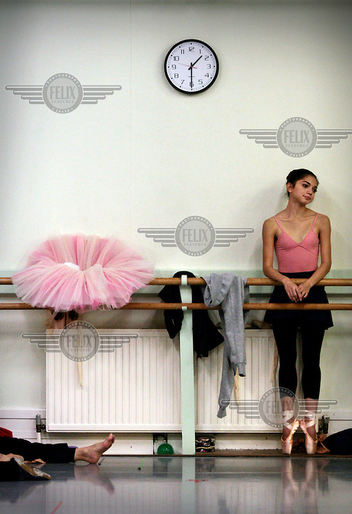 A rehearsal at the Scottish Ballet in Glasgow. They are preparing for the Christmas production of Cinderella.