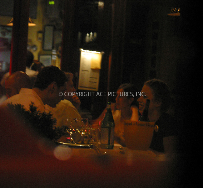 **EXCLUSIVE**..Chelsea Clinton takes a break from school. Chelsea has been spotted having a 3-hour dinner with her firend Jon Keidan at a trendy restaurant Da Silvano on Sixth Avenue in West Village. Chelsea had a three course dinner which included Monk Fish Carpaccio, Taglieorini Tartufo and Dover Sole. She told our lensman upon exiting the restaurant that food was delicious, and as we learned later, Chelsea took care of everyting -- she used her credit card to pay for dinner and left very good tip for waiters. The friends spent most of the time continuing apparently interesting conversation and the only bottle of vine on the table remained almost untouched throughout the dinner. New York. August 12, 2002. Please byline: Alecsey Boldeskul/NY Photo Press.   ..*PAY-PER-USE*      ....NY Photo Press:  ..phone (646) 267-6913;   ..e-mail: info@nyphotopress.com