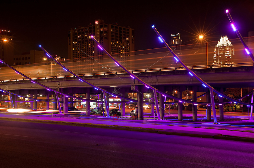 IH-35 Makeover Project provides safely light parking for downtown 6th street partiers
