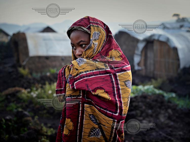 A young woman at an UN IDP camp near Goma.