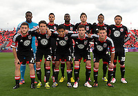 06 October 2012: The D.C. United starting eleven  during an MLS game between DC United and Toronto FC at BMO Field in Toronto, Ontario Canada. .