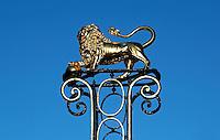 Den Bosch . Gouden leeuw in het centrum