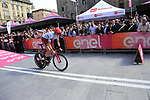 Ilnur Zakarin (RUS) Team Katusha Alpecin powers off the start ramp of Stage 1 of the 2019 Giro d'Italia, an individual time trial running 8km from Bologna to the Sanctuary of San Luca, Bologna, Italy. 11th May 2019.<br /> Picture: Eoin Clarke | Cyclefile<br /> <br /> All photos usage must carry mandatory copyright credit (© Cyclefile | Eoin Clarke)