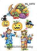 Interlitho, STILL LIFE STILLLEBEN, NATURALEZA MORTA, paintings+++++,2 scarecrow,black cat,KL4473,#i# stickers,halloween,