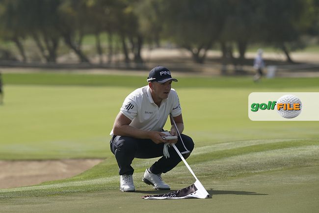Matt Wallace (ENG) during the third round of the Omega Dubai Desert Classic, Emirates Golf Club, Dubai, UAE. 26/01/2019<br /> Picture: Golffile | Phil Inglis<br /> <br /> <br /> All photo usage must carry mandatory copyright credit (&copy; Golffile | Phil Inglis)