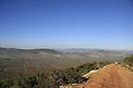 Israel, Lower Galilee. Turan scenic road overlooking Beit Netofa valley
