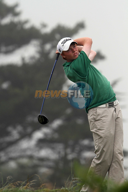 Robin Dawson (IRELAND) on the 11th tee at the 2012 Boys Home Internationals at Co.Louth Golf Club in Baltray, Co.Louth...(Photo credit should read Jenny Matthews/NEWSFILE)...