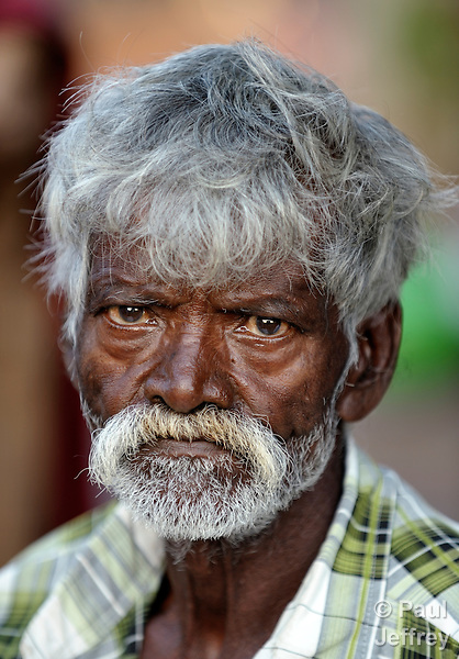 A man in Nallur, a small village in the state of Tamil Nadu in southern India.