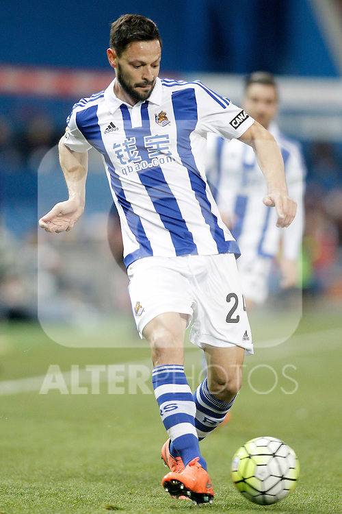Real Sociedad's Alberto de la Bella during La Liga match. March 1,2016. (ALTERPHOTOS/Acero)
