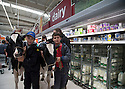 09/08/15<br /> <br /> ***with video***<br /> <br /> Joel Dary (14) with pal Dan Weaver (13), both from Stone, Staffordshire.<br /> <br /> Protesting dairy farmers brought chaos to an Asda store today when they marched two cows through the aisles to the dairy produce area of the supermarket in Stafford where a spokesman called for the public's support to increase the amount dairy farmers are paid for mllk.<br /> All Rights Reserved - F Stop Press.  www.fstoppress.com. Tel: +44 (0)1335 418629 +44(0)7765 242650