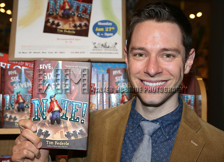 Tim Federle attends Tim Federle's book party for 'Five, Six, Seven, Nate!' at Books of Wonder on January 27, 2014 in New York City.