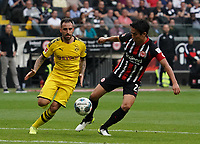 Makoto Hasebe (Eintracht Frankfurt) gegen Paco Alcacer (Borussia Dortmund) - 22.09.2019: Eintracht Frankfurt vs. Borussia Dortmund, Commerzbank Arena, 5. Spieltag<br /> DISCLAIMER: DFL regulations prohibit any use of photographs as image sequences and/or quasi-video.
