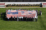 Animal Kingdom with John Velazquez aboard wins the 137th runnin of the Kentucky Derby. National Anthem