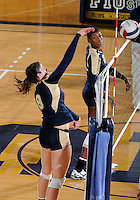 Florida International University women's volleyball player Nicole Beckelheimer (8) plays against Tulane University.  FIU won the match 3-2 on September 9, 2011 at Miami, Florida. .