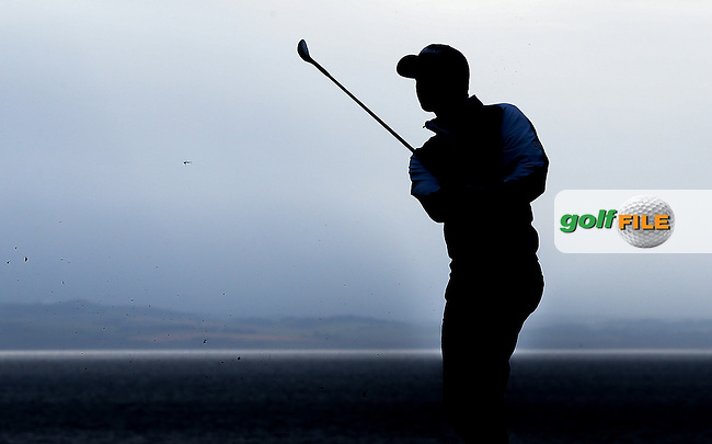 Light fades as Daniel Brooks (ENG) maintains his grip of the top of the leaderboard during Round Three of the 2015 Aberdeen Asset Management Scottish Open, played at Gullane Golf Club, Gullane, East Lothian, Scotland. /11/07/2015/. Picture: Golffile | David Lloyd<br /> <br /> All photos usage must carry mandatory copyright credit (&copy; Golffile | David Lloyd)