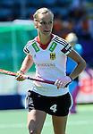 The Hague, Netherlands, June 13: Jana Teschke #4 of Germany in action during the field hockey placement match (Women - Place 7th/8th) between Korea and Germany on June 13, 2014 during the World Cup 2014 at Kyocera Stadium in The Hague, Netherlands. Final score 4-2 (2-0)  (Photo by Dirk Markgraf / www.265-images.com) *** Local caption ***