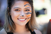 Oswald's Carnival and Tailgate party, part of Homecoming and Family Weekend 2018, on Saturday, Oct. 20, 2018 in the Academic Quad. Students, parents, alumni and staff join Oswald for a festive pre-game Homecoming celebration, complete with a BBQ lunch, music, interactive games and spirit booths led by student clubs.<br /> (Photo by Marc Campos, Occidental College Photographer)