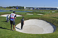 Danny Willett (ENG) in a bunker on the 18th during Round 1 of the HNA Open De France at Le Golf National in Saint-Quentin-En-Yvelines, Paris, France on Thursday 28th June 2018.<br /> Picture:  Thos Caffrey | Golffile