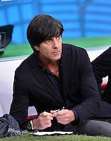 FUSSBALL WM 2014                ACHTELFINALE Deutschland - Algerien               30.06.2014 Bundestrainer Joachim Loew (Deutschland) macht sich Notizen