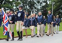 Blair Atholl, Scotland, UK. 8th September, 2015. Longines  FEI European Eventing Championships 2015, Blair Castle.Opening Ceremony. Team GB © Julie Priestley