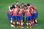 Atletico de Madrid's Jan Oblak, Filipe Luis, Diego Godin, Oliver Torres, Fernando Torres, Tiago Mendes, Antoine Griezmann, Gabi Fernandez, Juanfran Torres and Jose Maria Gimenez during La Liga match. October 4,2015. (ALTERPHOTOS/Acero)