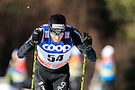 Dario Cologna competes during the FIS Cross Country Ski World Cup15 Km Individual Classic race in Dobbiaco, Toblach a, on December 20, 2015. Norway's Martin Johnsrud Sundby wins. Credit: Pierre Teyssot