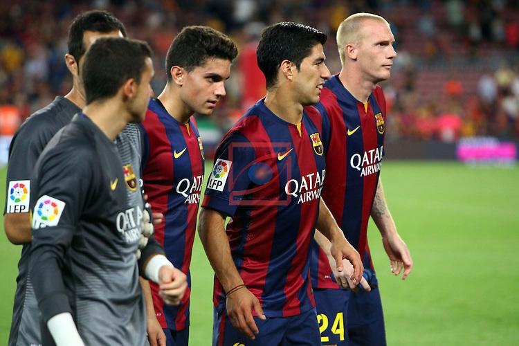 49e Trofeu Joan Gamper.<br /> FC Barcelona vs Club Leon FC: 6-0.<br /> Masip, Bartra, Suarez &amp; Mathieu.