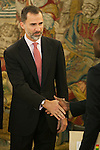 King Felipe VI of Spain receives Senegal Republic President, Mr. Macky Sall, during a Royal Audience at Zarzuela Palace in Madrid, Spain. December 15, 2014. (ALTERPHOTOS/Victor Blanco)