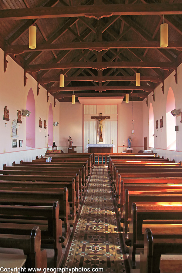 Interior of Catholic parish church Cape Clear Ireland, Cork, Ireland, Irish Republic