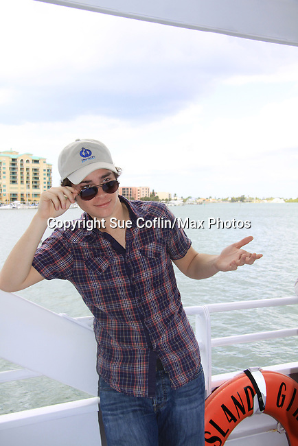 One Life To Live Eddie Alderson at SoapFest's Celebrity Weekend - Cruisin' and Schmoozin' on the Marco Island Princess - mix and mingle and watching dolphins - autographs, photos, live auction raising money for kids on November 11, 2012 Marco Island, Florida. (Photo by Sue Coflin/Max Photos)