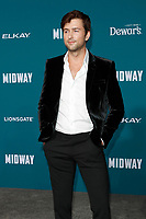 "LOS ANGELES - NOV 5:  Brandon Sklenar at the ""Midway"" Premiere at the Village Theater on November 5, 2019 in Westwood, CA"