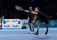 Jamie Murray and Bruno Soares win there first match in Round Robin Doubles Tournament  against Huey and Mirnyi  played at O2 Arena  London on 13th November 2016